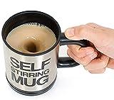 コーヒー 自動 混ぜる 自動撹拌 ステンレス マグカップ 自動電気 撹拌 マグ オート ミキシング ステンレス マグ カップ 350ml ブラック