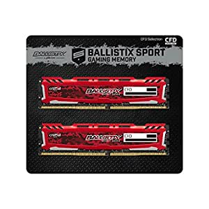 CFD販売 デスクトップPC用メモリ PC4-19200(DDR4-2400) 4GBx2枚 288pin (無期限保証)(Ballistix by Micron) W4U2400BMS-4G/R