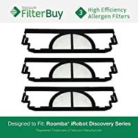 9-pack iRobot Roomba Discoveryフィルタキット、パーツ# ' s 4910、vp-rm400–3Flt、vprm4003flt。Designed by FilterBuy toフィットiRobot Roomba DiscoveryシリーズVacuum Cleaners
