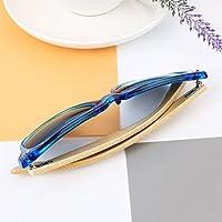Bolange メンズレディース木製ファッションメガネ クラシック木製コーティング偏光サングラス 竹の足とハーフメタルフレームのメガネ