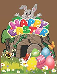 HAPPY EASTER: Coloring book This is a fun book. I have a lot of funny cartoons in this book and a lot of tempt