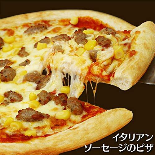 イタリアンソーセージとコーンのピザ
