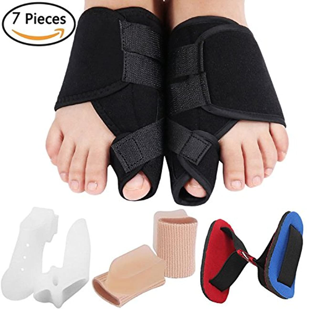 Bunion Corrector Bunion Relief Kit, Bunion Splint Toe Straightener Corrector for Hallux Valgus, Big Toe Joint,...