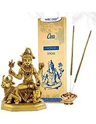 Vedic Vaani Bhagwan シャンカー シーヴァ インセンススティック付き Divine Bull Nandi