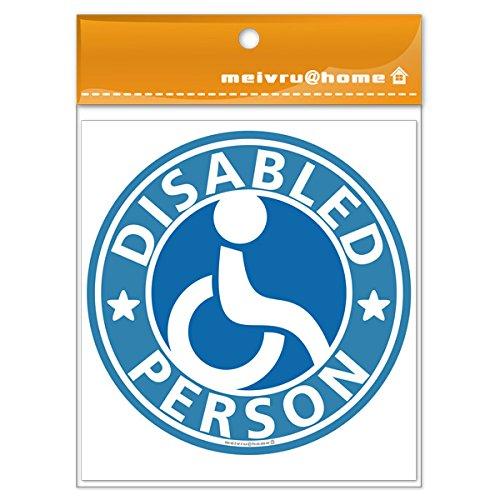 【マグネット/ブルー】車椅子マーク マグネット ステッカー/ 福祉車両 車いす 車イス 身障者マーク