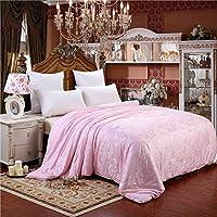 WCH 寝具シルクキルト、シンプルなキルト、ソファリゾート子供部屋の寝室のための耐久性のあるしわ防止キルト (Color : C, サイズ : 180x220cm(71x87inch))