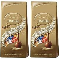 リンツ リンドール アソート チョコレート 600グラム ダーク,ヘーゼルナッツ,ミルク,ホワイトの4種類アソート Lindt LINDOR ASSORTED CHOCOLATE 600g DARK,WHITE,HAZELNUT,MILK (2個セット) [並行輸入品]