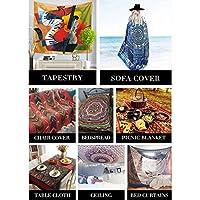 抽象楽器ファッションタペストリーぶら下げ壁タペストリー家の装飾ピクニック毛布ビーチタオルベッドカーテン(多色)