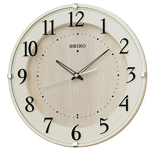 SEIKO CLOCK (セイコークロック) 掛け時計 電波 アナログ アイボリー KX397A