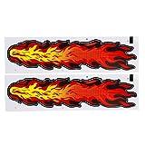 DealMux 2個火災炎スタイル粘着ステッカーグラフィックステッカー52センチメートルX 12.5センチメートル