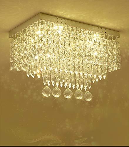 北欧現代透明ガラスクリスタル天井ライトフラッシュマウントLE...