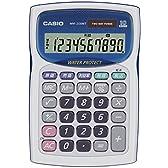 カシオ 防水・防塵電卓 ミニジャストタイプ 10桁 WM-200MT-WE-N ホワイト