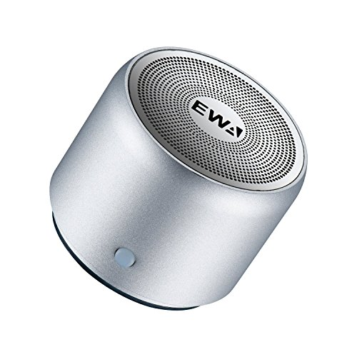 EWA A106 ワイヤレス Bluetoothコンパクトスピーカー(シルバー)