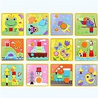 IPENNY パズル ジグソーゲーム マッシュルームネイル 早期教育玩具 色とマッチするボタン アート ペグボード 組み立てブロック クリエイティブ 幼稚園 DIY 男の子と女の子用 ONE SIZE EDUTOY129