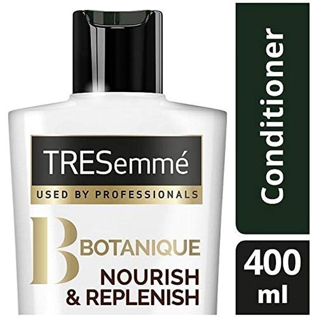 反響する影響力のあるヒューバートハドソン[Tresemme] Tresemmeのボタニックを養う&コンディショナー400ミリリットルを補充します - TRESemme Botanique Nourish & Replenish Conditioner 400ml...