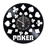 クロックス ボーイズ スニーカー Poker Game Vinyl Record Wall Clock - Get unique garage wall decor - Gift ideas for boys and girls, friend, siblings – Game Unique Art Design - Leave us a feedback and win your custom clock