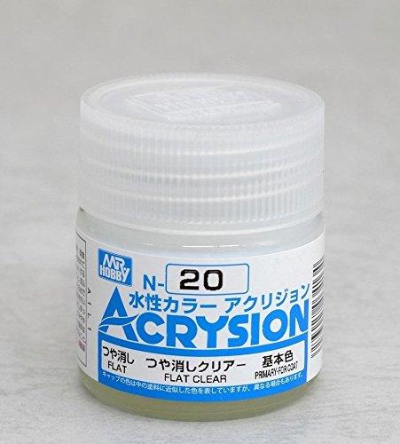 GSIクレオス 新水性カラー アクリジョン N20 つや消しクリアー