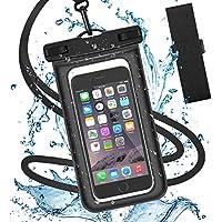 防水ケース スマホ用 【IPX8認定 指紋認証】防水携帯ケース タッチ可 水中撮影 潜水 温泉 スキー 水泳など適用
