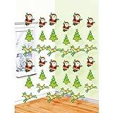 【クリスマス装飾デコレーション】ストリングデコレーション ウィムジカルサンタ&レインディアー・6個入り(1パック)  / お楽しみグッズ(紙風船)付きセット
