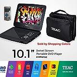 "TEAC 10.1"" Portable DVD Player | Swivel Screen | Carry Bag w Car Adaptor | Earphones INC. | USB, SD, MMC Playback| Plus Remote"