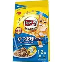 (まとめ買い)日本ペット ミオドライミックス かつお味 1.2kg 猫用 キャットフード 【×4】