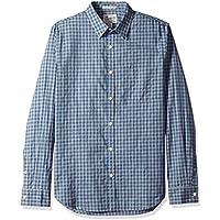 Lucky Brand Men's Long Sleeve ONE Pocket Button UP Ballona Shirt