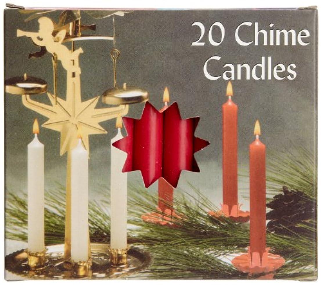 警官スコア楕円形Biedermann & Sons C1123RD Red Chime Candles- Box of 20