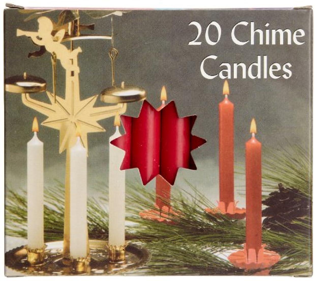 地質学奇跡的な小麦粉Biedermann & Sons C1123RD Red Chime Candles- Box of 20