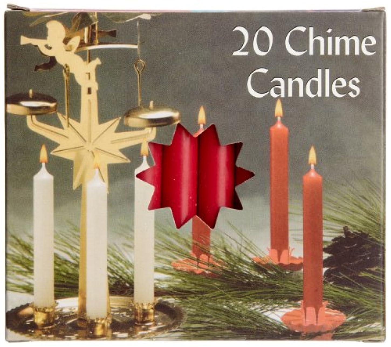 興奮する扱いやすい残酷Biedermann & Sons C1123RD Red Chime Candles- Box of 20