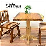 MANJA FUR-0399-C 送料無料 アジアン家具 モンキーポッド チーク カフェテーブル H74.5cm(塗装代込)