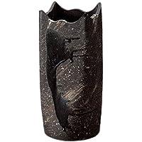 黒釉ビードロ角型傘立 534-02
