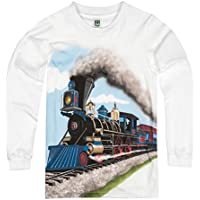 Shirts That Go Little Boys' Long Sleeve Steam Train T-Shirt