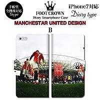 BRAVE CROWN t061 iPhone XS Max XR X 8 7 6s 6 plus プラス SE 5s 5 手帳型 スマホ ケース Xperia Galaxy 全機種対応 ダイアリー ブランド グッズ サッカー フットボールマンチェスターユナイテッド プレミア マンU ロナウド イングランド ユニフォーム ギグス ボール ユニフォーム エンブレム メンズ レディース