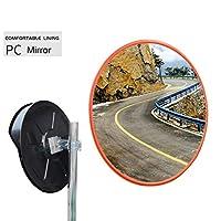 凸面鏡盲点ための壁、ブラインドスポットミラートラフィックミラー道路ミラー安全ミラー凹面ミラー駐車場のセキュリティ凸曲面ミラーの道 (Color : Outdoor, Size : 45cm)