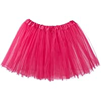 My Lello Women's Teen Adult 3-Layer Ballet Tulle Tutu Skirt -Hot Pink
