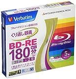 三菱ケミカルメディア Verbatim くり返し録画用 BD-RE VBE130NP5V1 (片面1層/1-2倍速/5枚)
