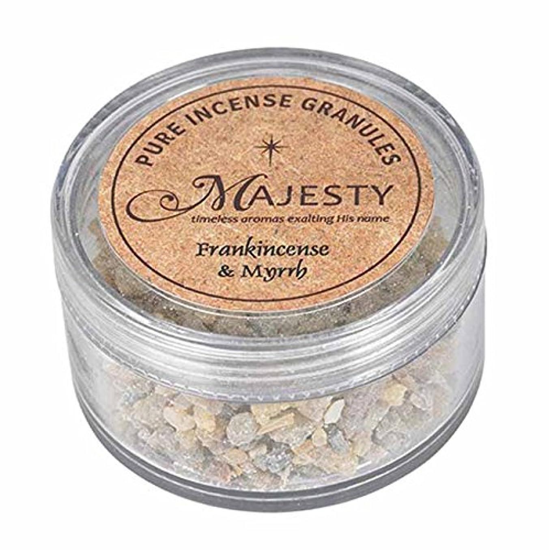 迷彩常習者テーブルを設定するMajesty Incense : Frankincense and Myrrh
