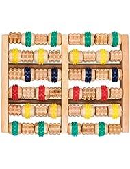 竹マッサージャー 足底ポイントマッサージャー 天然木製カラー 6列足底マッサージャー フットミニマッサージャー 家庭用木製フットバスマッサージャー