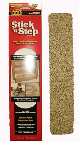 M-D Building Products Stick `N Step Stair Treads Anti-Skid Strip, 14 in L X 2-3/4 in W, Natural, 46620