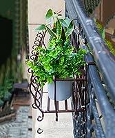 CHAOXIANG フラワースタンド フラワーポットラック 花棚 厚い鉄のフェンスのフラワースタンド複数階の屋内の壁の吊りフラワーシェルフバルコニー吊り花の鍋ラック (色 : C, サイズ さいず : 80cm)