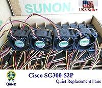 超静音交換用Sunonファン Cisco SG300-52P用 低騒音 4個パック