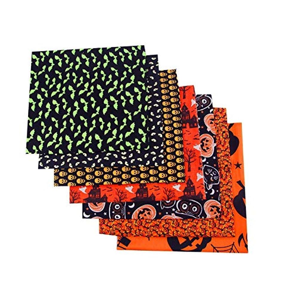するアヒル追加コットン生地、キルティング生地、8PCSハロウィーンのテーマコットン生地バンドルキルティング生地、ホリデーペナント生地生地生地グループ縫製キルトポットホルダーDIY&キルティング初心者