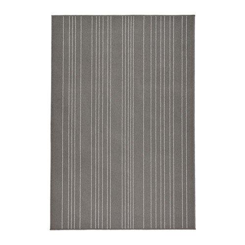 IKEA(イケア)HULSIGラグ パイル短, グレー120x180 cm