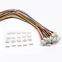 20 SETS Mini Micro JST 2.0 PH 4ピンコネクタプラグ、ワイヤケーブル付き150MM