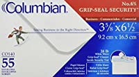 COLUMBIAN Grip-Seal Security Tint Business Envelope, 6 3/4, 3 5/8 x 6 1/2, White, 55/Box (CO140)