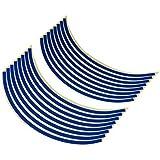 バイクパーツセンター リムステッカー 17インチ用 ブルー 901822