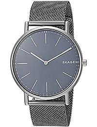 [スカーゲン]SKAGEN メンズ シグネチャー 40mm チタニウム ネイビー文字盤 ガンメタル メッシュ ステンレス SKW6420 腕時計 [並行輸入品]