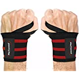 "Rip Toned Wrist Wraps 18"" Professional Grade with Thumb Loops - Wrist Support Braces for Men & Women - Weight Lifting, Xfit, Powerlifting, Strength Training - Bonus Ebook"
