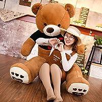 BEARS'HOME ぬいぐるみ  くま 抱き枕 可愛い ぬいぐるみ  熊 クマ コストコ 巨大 テディベア 抱き枕 クリスマス 誕生日 プレゼント 可愛い インテリア 撮影道具 添い寝 (ダークブラウンA, 180CM)