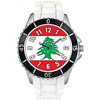 レバノンの旗 - ユニセックスシリコン腕時計